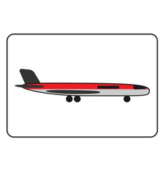 Plane icon in the frame vector image