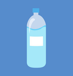 Plastic bottle of water isolated vector