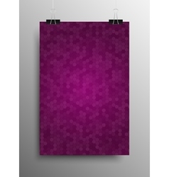 Poster Tile Honey Comb Purple Background vector