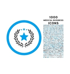 Proud Emblem Rounded Icon with 1000 Bonus Icons vector