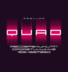 Quad regular futuristic sports typeface vector