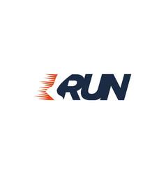 r for run logo running logo vector image