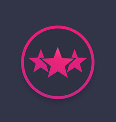 Ranking rating icon vector