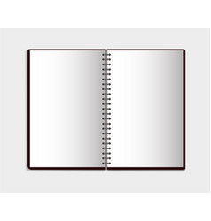 realistic notebook in mockup style blank notepad vector image