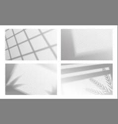 realistic shadow overlay window light with shadow vector image