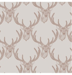 Seamless deer pattern vector