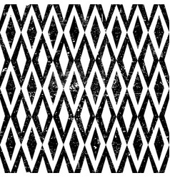 Seamless vintage rhombus pattern with grunge vector