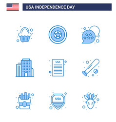Set 9 usa day icons american symbols vector