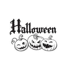 set cartoon halloween pumpkins halloween vector image