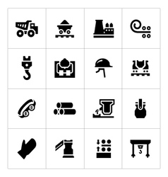 Set icons of metallurgy vector