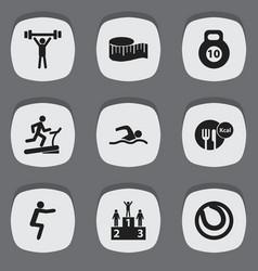 Set of 9 editable healthy icons includes symbols vector