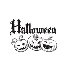 set of cartoon halloween pumpkins halloween vector image