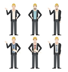 Set of engineer men2 vector image