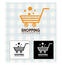 Shopping logo design vector