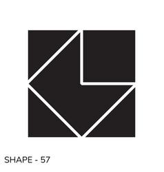 Simple geometric shape vector