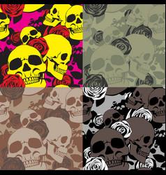 skullamproses camo vector image