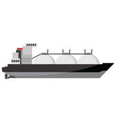 Small lng tanker icon vector