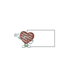 Smiley stripes chocolate bar with whiteboard vector
