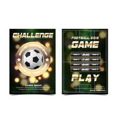 Soccer poster football ball design for vector