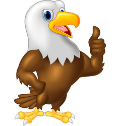 Strong and powerful eagle giving thumb up vector