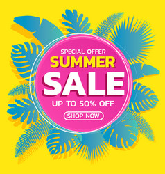 summer sale tropical vector image