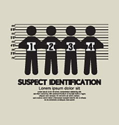 Suspect Identification Graphic Symbol vector