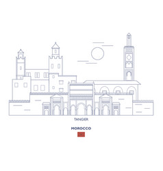 tangier city skyline vector image