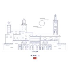 Tangier city skyline vector