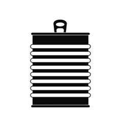 Tin can black simple icon vector image
