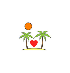 tour in valentines day solid icon travel island vector image