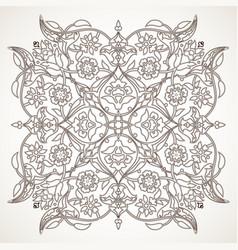 arabesque vintage outline floral decoration print vector image