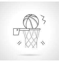 Basketball shot flat line design icon vector image vector image