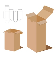 Box Packaging Design Brown box packaging vector image vector image