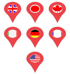 Pin location country G7 vector image vector image