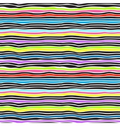 Seamless color stripes background vector image vector image