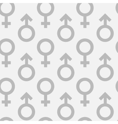 Seamless pattern of male and female gender symbols vector image vector image