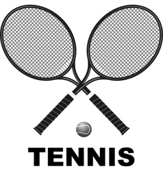 tennis rackets and ball vector image vector image