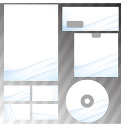 Corporate abstract wave templates vector image vector image