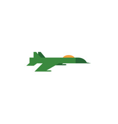 flat army military jet fatherland defender vector image