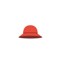 Flat icon woman hat element vector