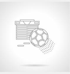football standings line vector image