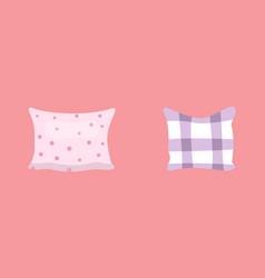set cool pillows in cartoon vector image