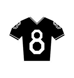 silhouette jersey american football tshirt uniform vector image vector image