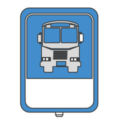 traffic signal bus stop vector image