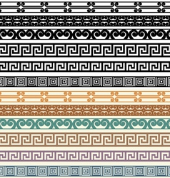 Greek Border Pattern Design Elements vector image