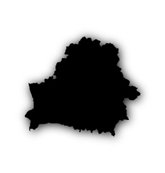 Map of belarus with shadow vector