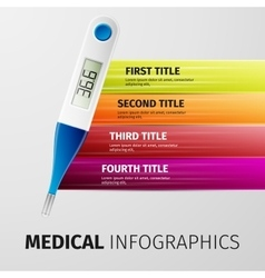 Medical infographics vector image