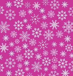 Noel pink wallpaper snowflakes texture - vector image vector image