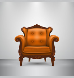 retro chair orange vector image vector image
