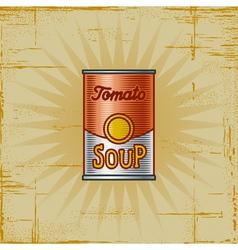 Retro Tomato Soup Can vector image